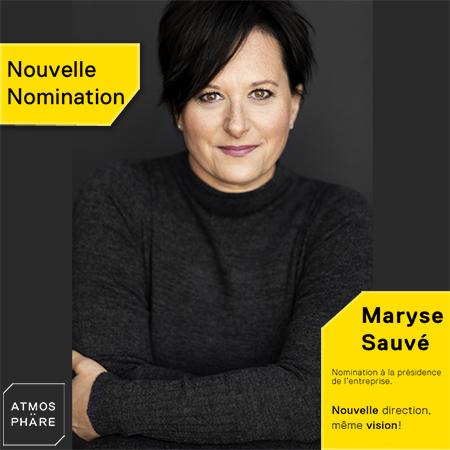 Nomination à la Présidence de Maryse Sauvé